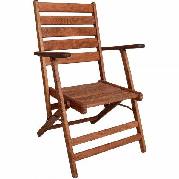Πολυθρόνες ξύλινες κήπου