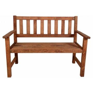 Παγκάκι διθέσιο KLARA από μασίφ ξύλο οξιάς σε χρώμα κερασί εμποτισμού 115x65x85 εκ.